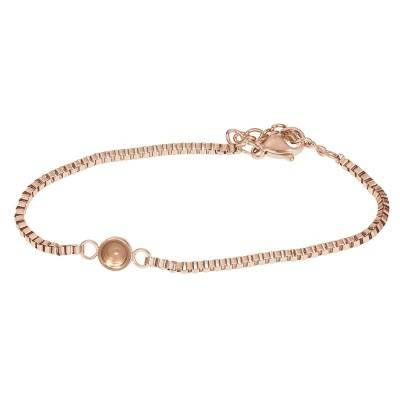 iXXXi Jewelry Bracelets Box chain top part base Rose