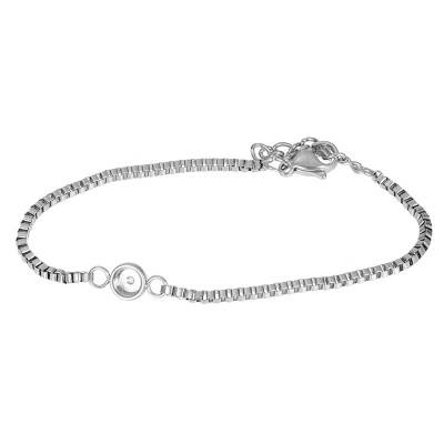 iXXXi Jewelry Bracelets Box chain top part base Zilver