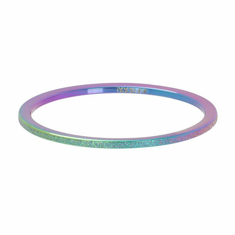 iXXXi Jewelry vulring 1mm Sandblasted Rainbow