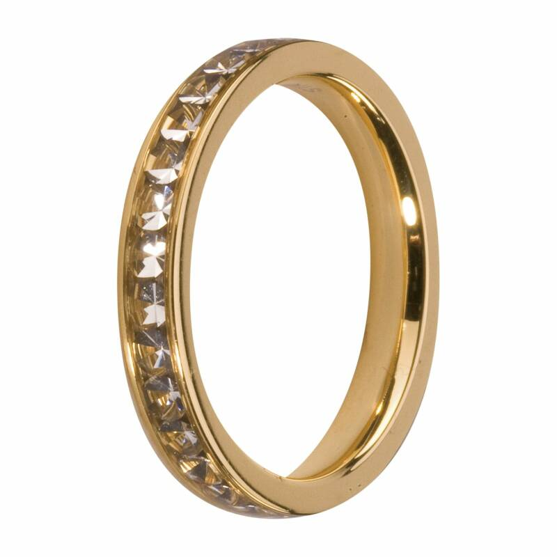 Melano Jewelry Friends Eva Ring Crystal Goud