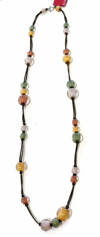 ZSISKA lange Colourful Beads ketting met T-sluiting