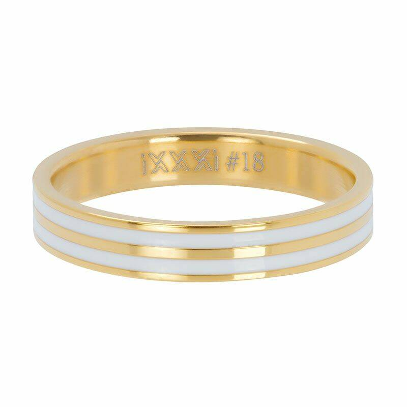 iXXXi Jewelry vulring 4mm Double Line White Goud
