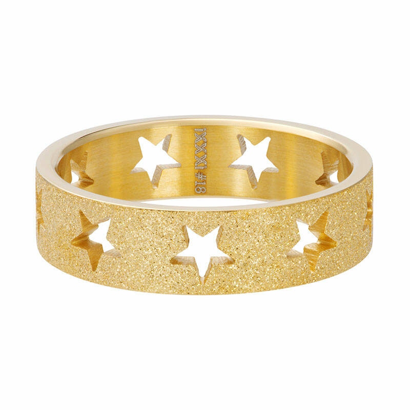 SALE iXXXi Jewelry vulring 6mm Stars sandblasted Goud