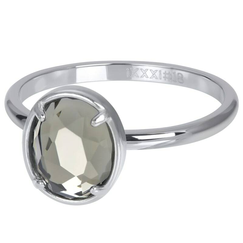 iXXXi Jewelry vulring 2mm Glam Oval Crystal Zilver