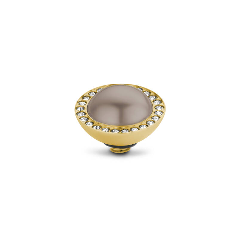 Melano Jewelry Twisted Crystal Pearl Bronze Gold
