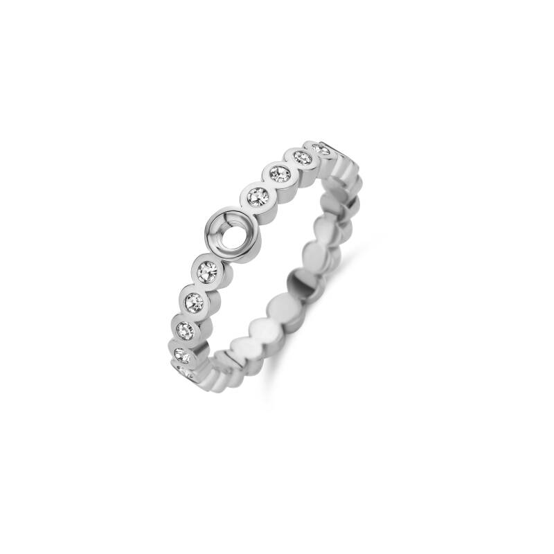 Melano Jewelry Twisted Wave CZ Ring Zilver