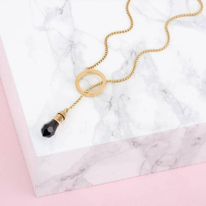 Melano Jewelry Twisted Circle ketting Goud (excl. steen)