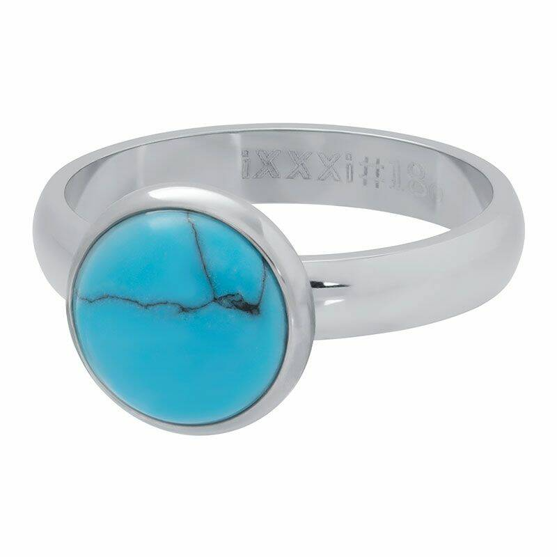 iXXXi Jewelry vulring 4mm 1 Blue Turquoise Stone 12 mm Zilver