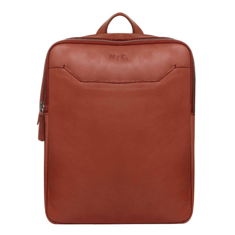 MyK Bag Vierkante Rugtas Small Chestnut