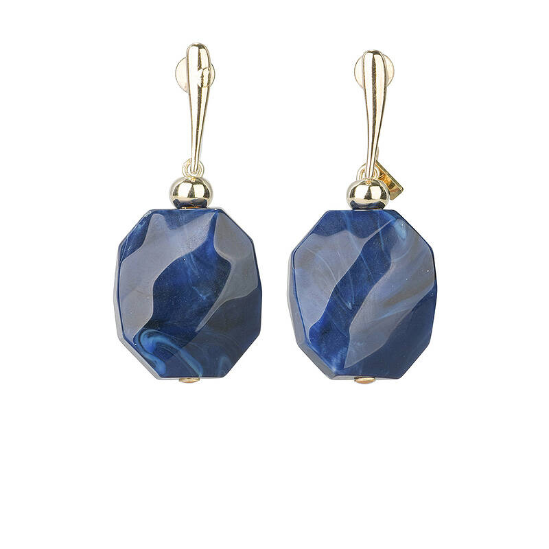 SALE Camps & Camps Oorhangers facetted stone Blauw