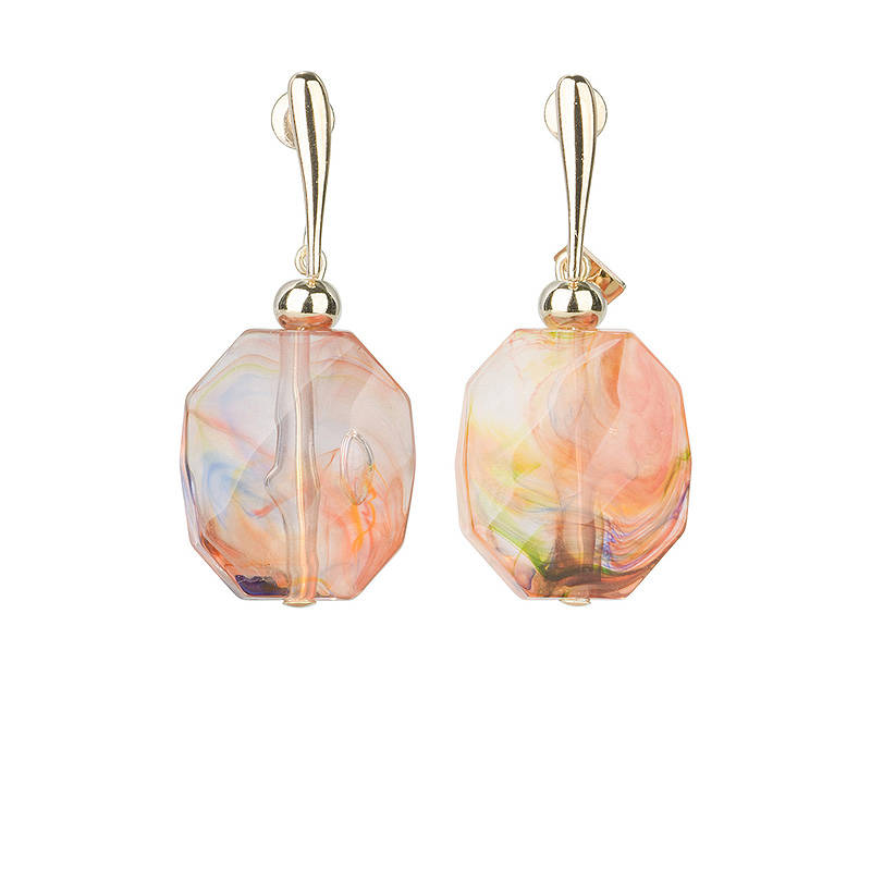 SALE Camps & Camps Oorhangers kaleidoscope facetted stone earrings