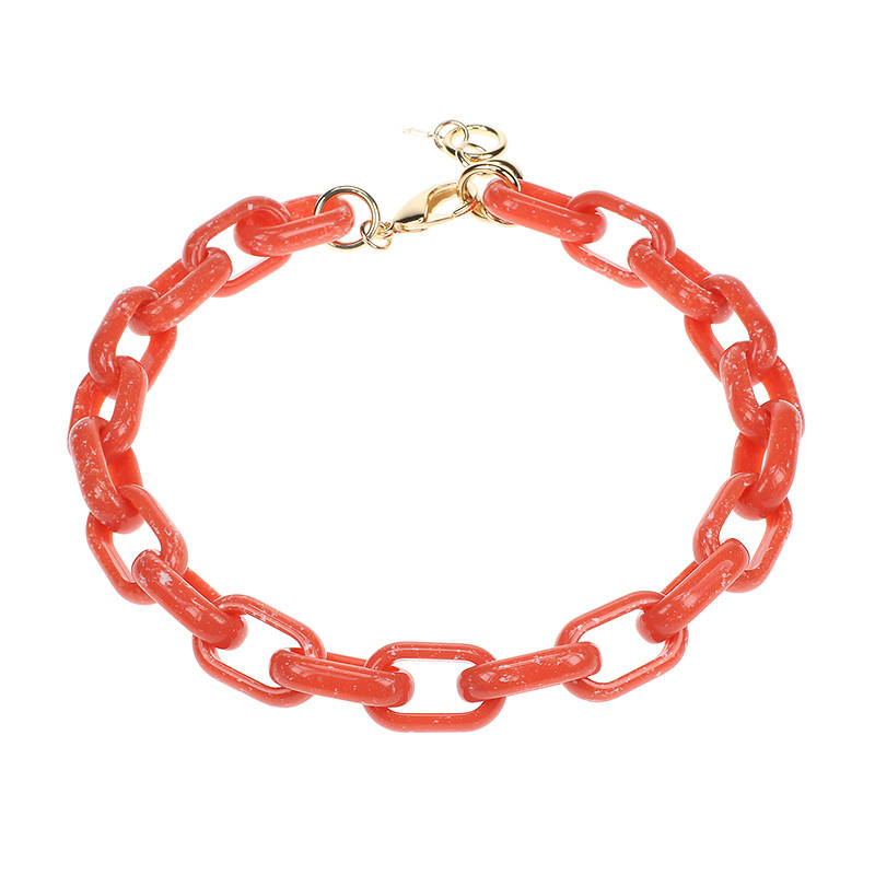 Camps & Camps Collier coral oval link chain