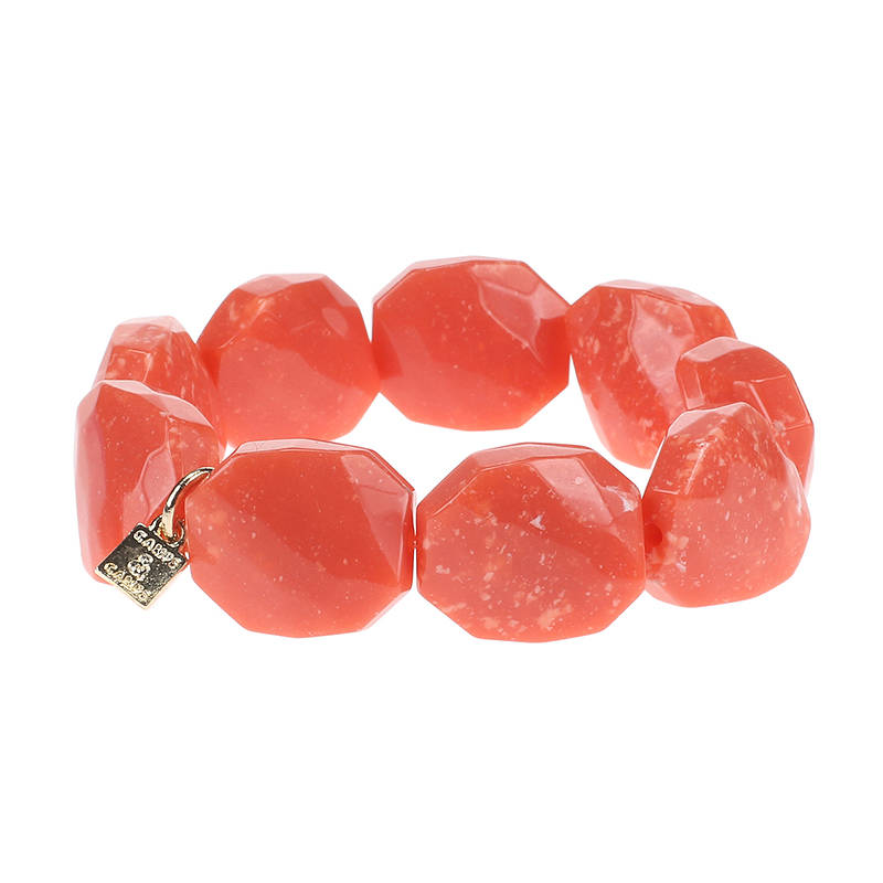 Camps & Camps Armband coral facetted stone bracelet