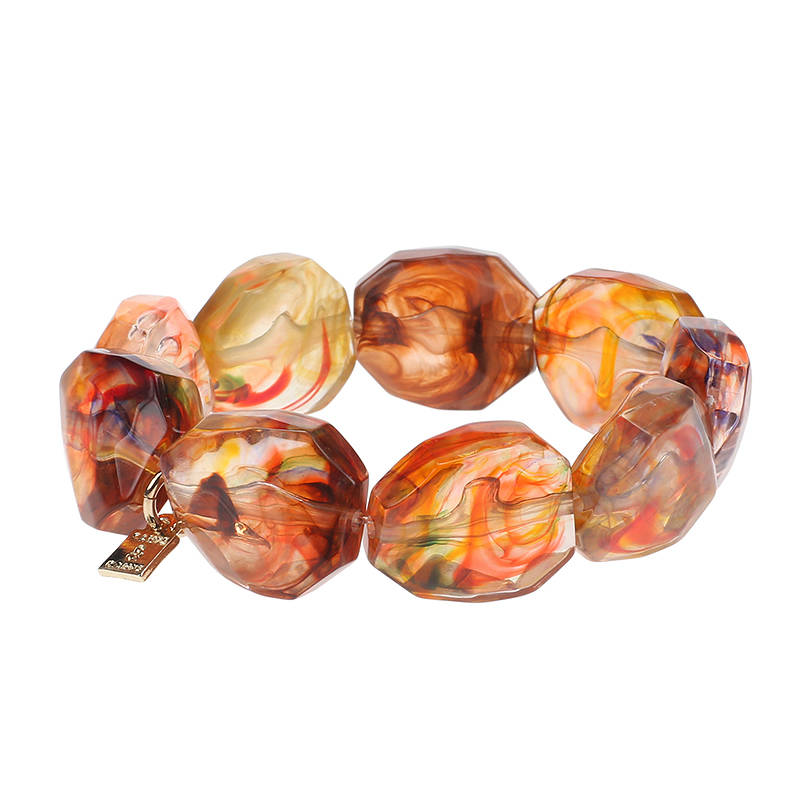 Camps & Camps Armband kaleidoscope facetted stone bracelet