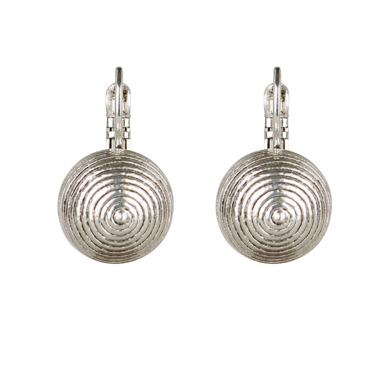 Camps & Camps Oorbellen silver plated dormeuse rond