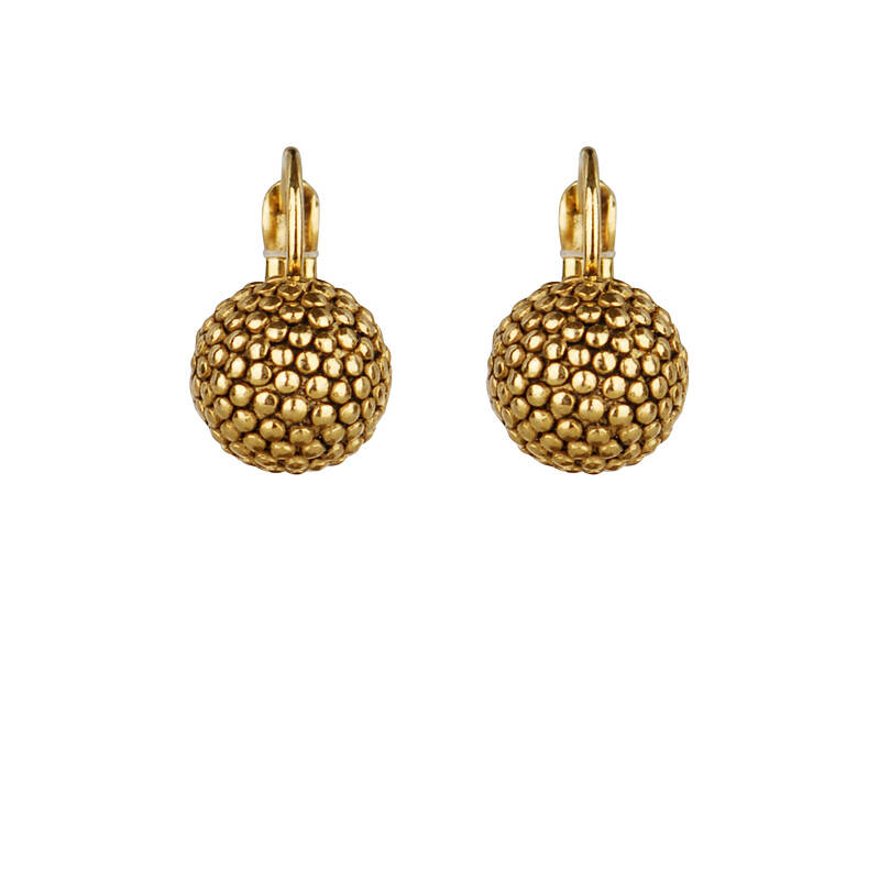 Camps & Camps Oorbellen gold plated dormeuse rond