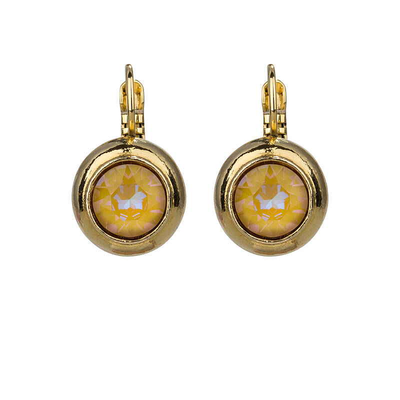 Camps & Camps Oorbellen gold plated dormeuse rond Maisgeel