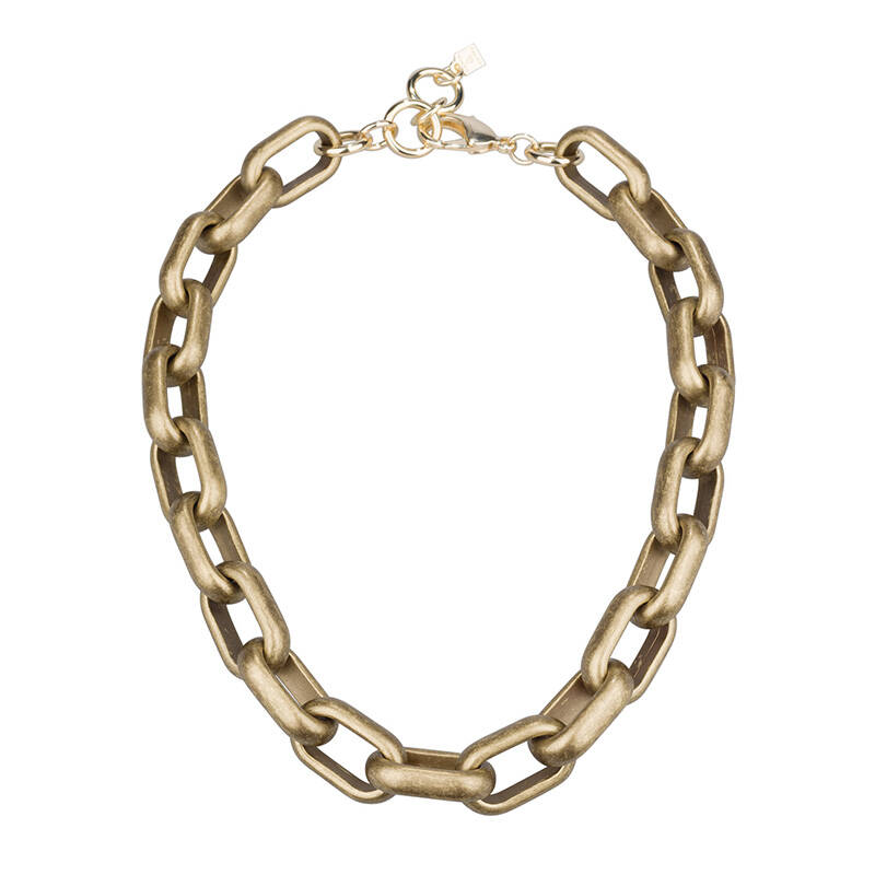 Camps & Camps Collier bronze oval link chain