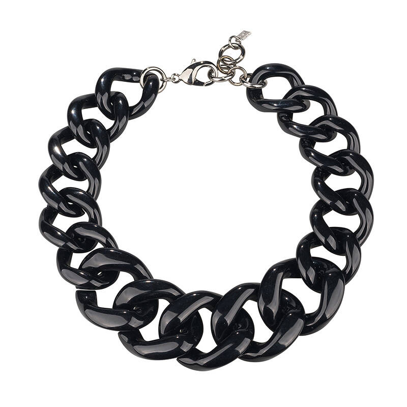 Camps & Camps Collier raven super chunky chain (zwart)