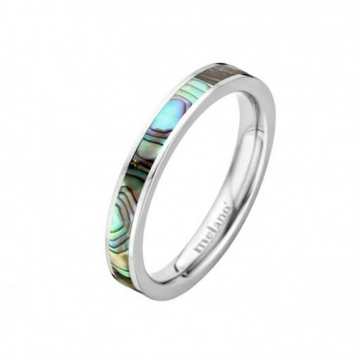 Melano Jewelry Friends Sofia Abalone Ring Zilver