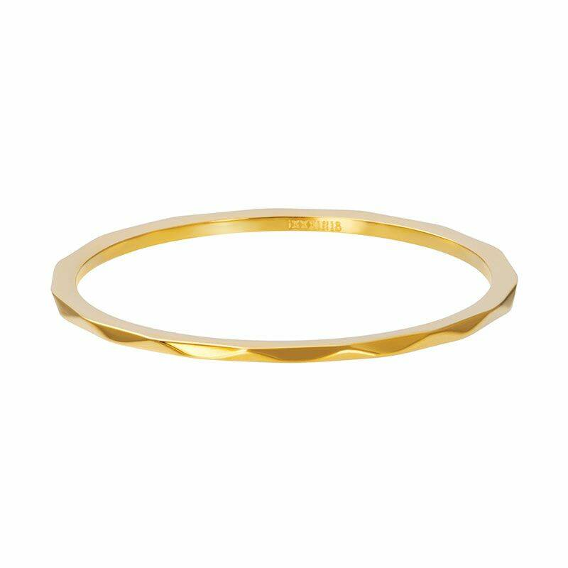 iXXXi Jewelry vulring 1mm Wave Goud