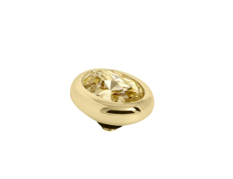 Melano Jewelry Twisted Oval Golden Shadow
