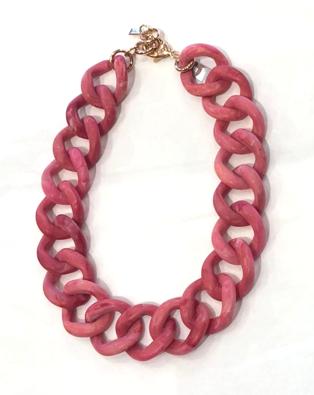 Camps & Camps Collier chunky chain Roze