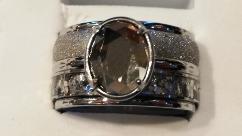 iXXXi Jewelry Complete Ring 12mm Grey Diamant Ovaal Zilver