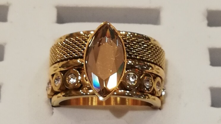 iXXXi Jewelry Complete Ring 12mm Champagne Diamant Goud