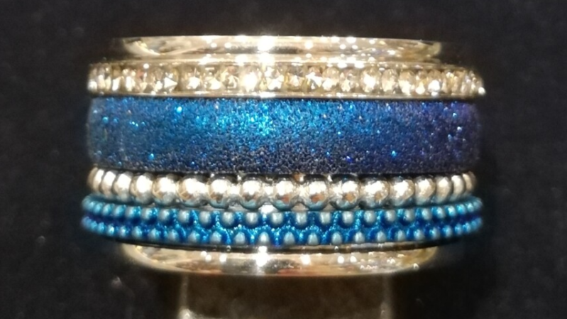 iXXXi Jewelry Complete Ring 12mm Blauw / Zilver