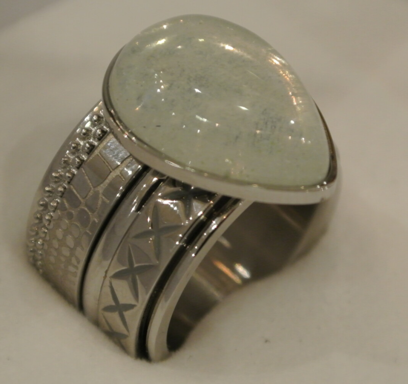 iXXXi Jewelry Complete Ring 14mm Grote Druppel Zilver