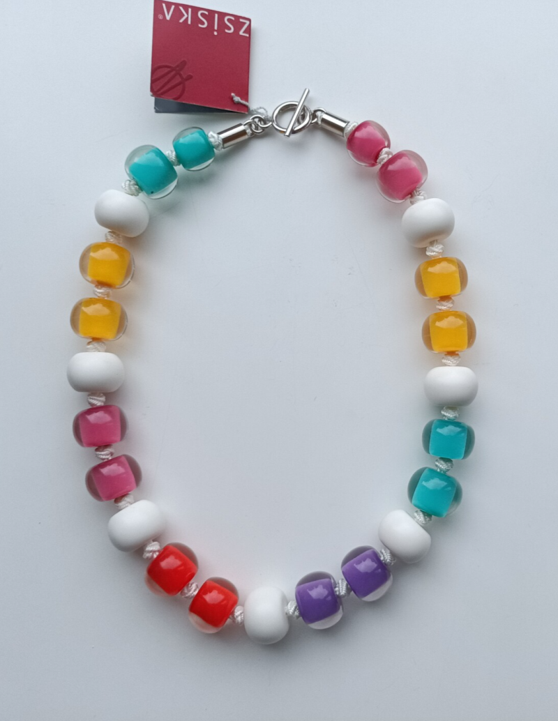 SALE ZSISKA Colourful Beads Ketting Multicolor