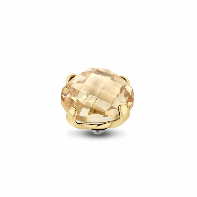 Melano Jewelry Twisted Facet Bold Steentje Golden Shadow