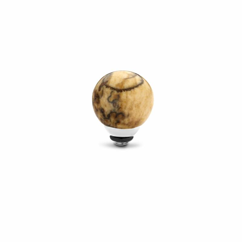 Melano Jewelry Twisted Gem Ball Steentje Picture Jasper