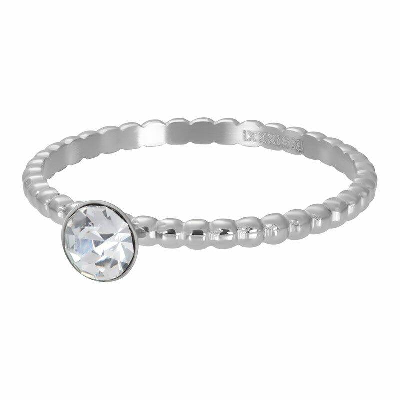 iXXXi Jewelry vulring 2mm Ball with Crystal Stone Zilver