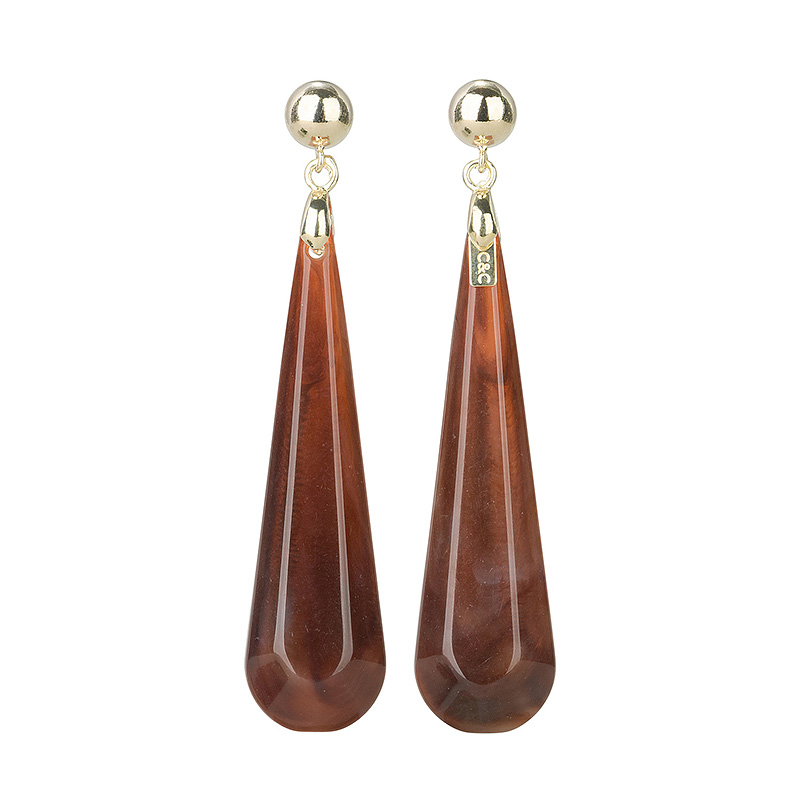 Camps & Camps Oorhangers smoked topaz dashing drops