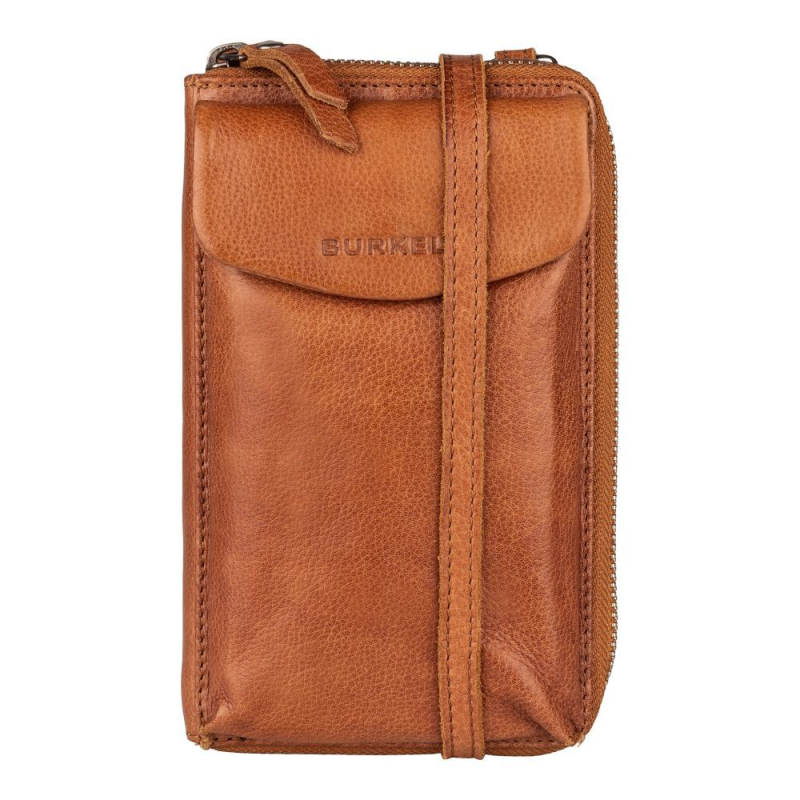 Burkely Just Jackie | Phone Wallet Cognac