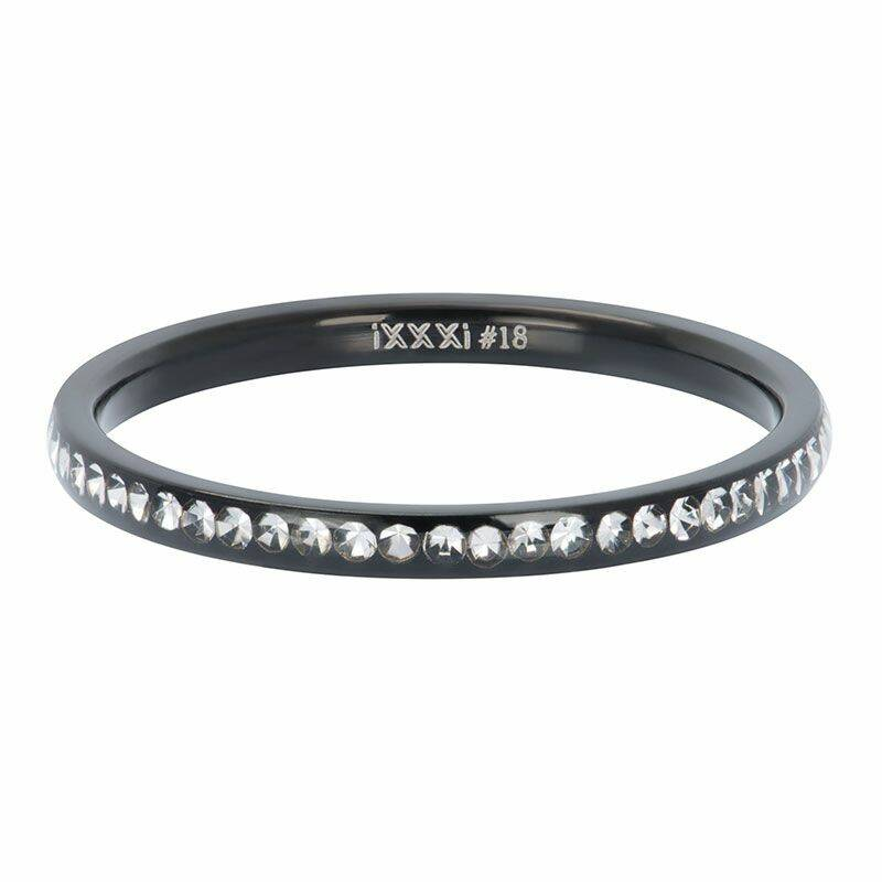 iXXXi Jewelry vulring 2mm Zirconia Crystal Zwart