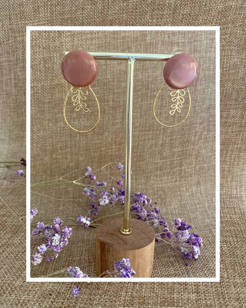 Griffin Earring | Taupe Pink