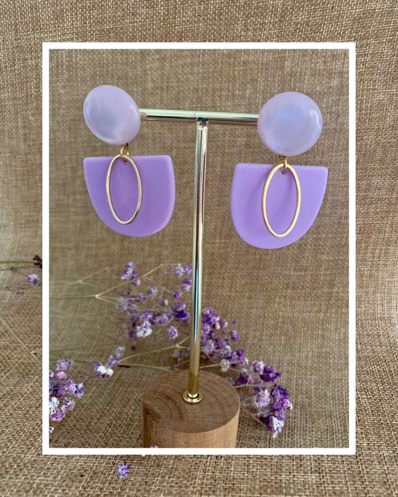 Rory Earring | Lilac