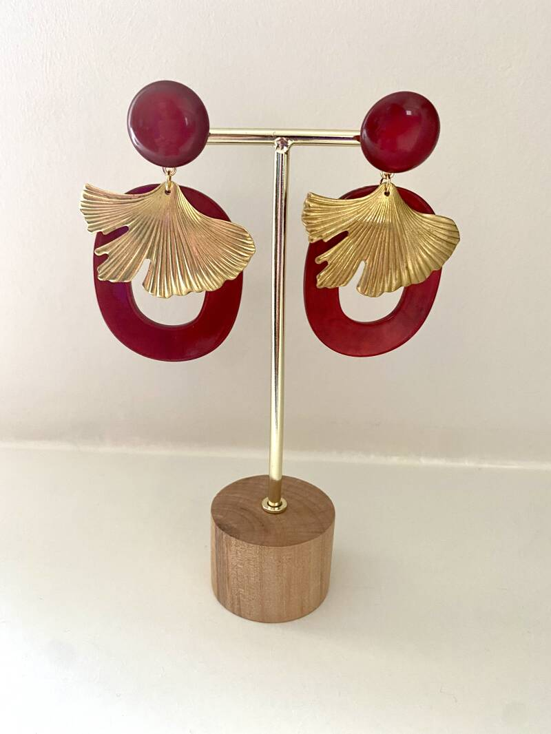 The Red Lotus Earring