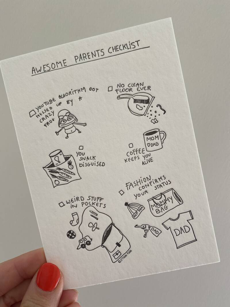 Kaartje awesome parent checklist