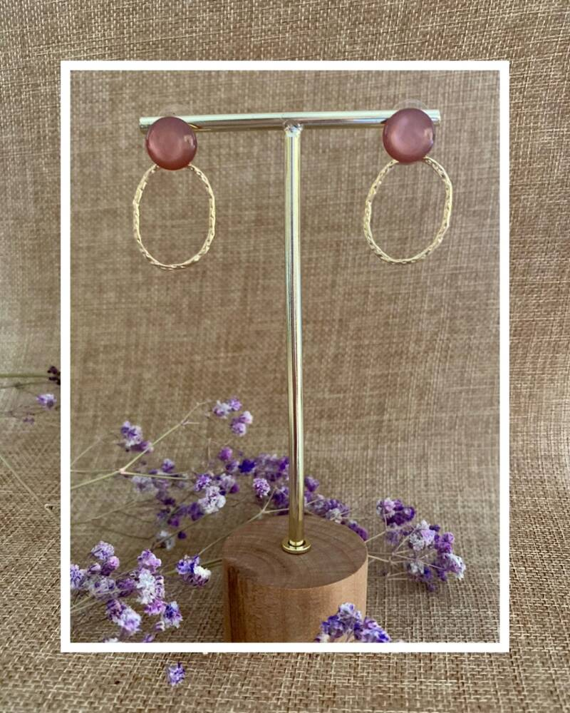 Maple Earring | Taupe Pink