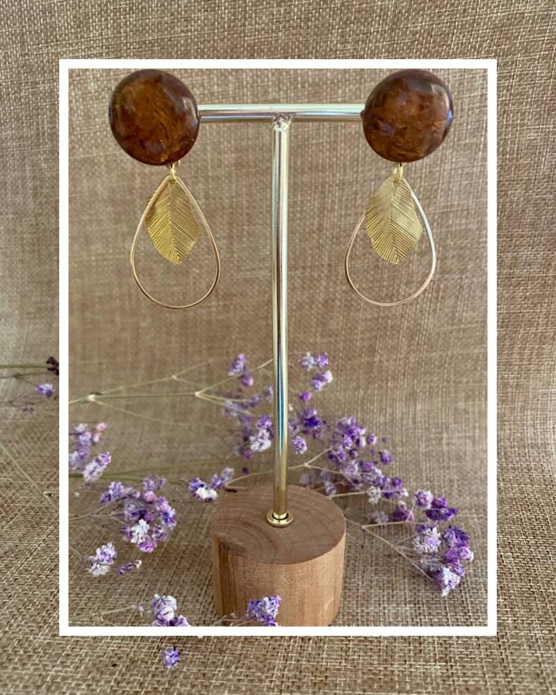 Willow Earring   Brown