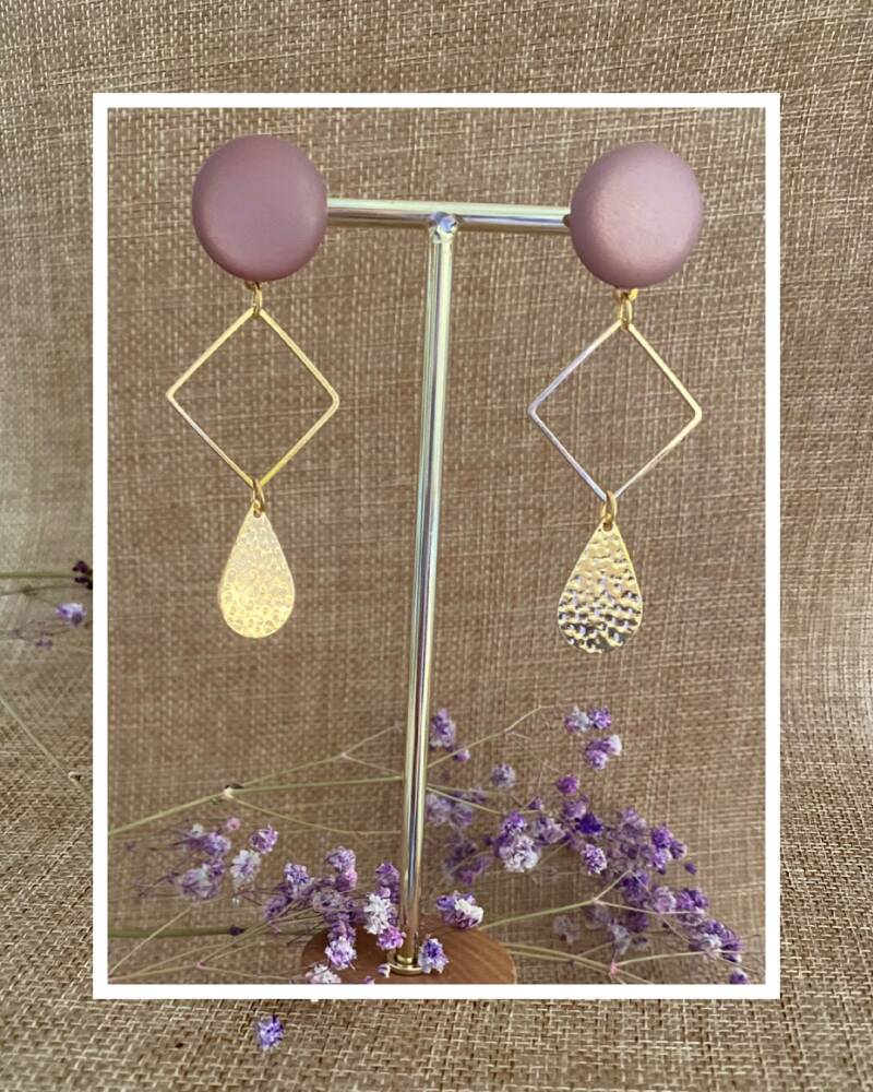 Russell Earring | Old Pink