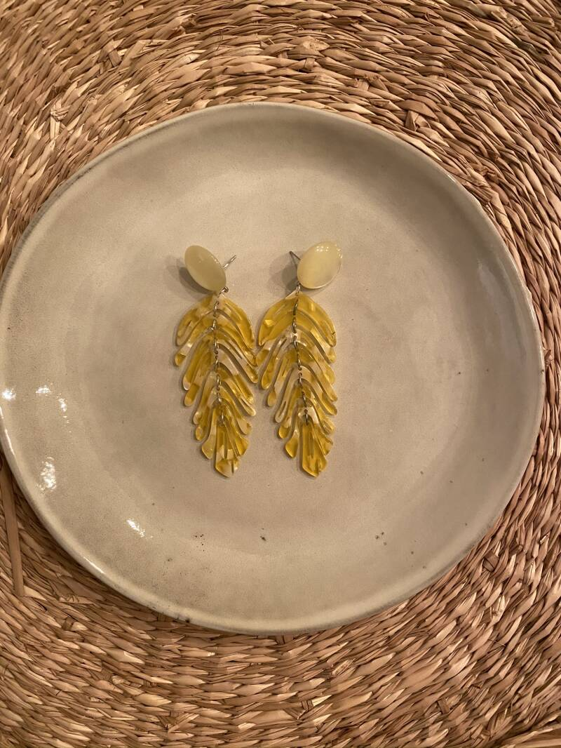 The Yellow leaf Earring