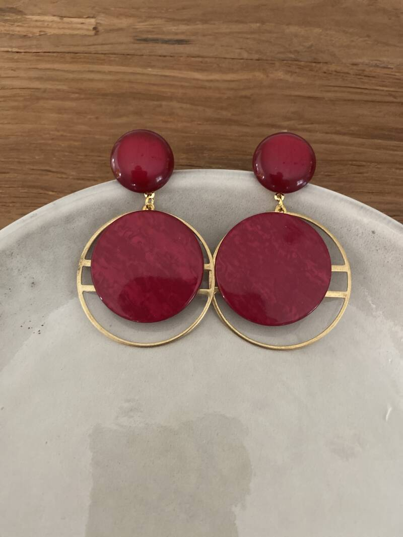 The Ruby Red Earring