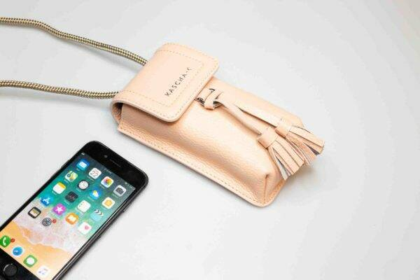 Phone bag Powder rose / gold
