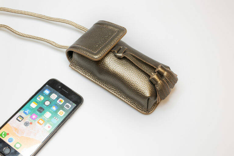 Phone bag copper / gold