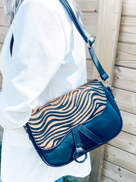 Brown/Black Zebra Bag